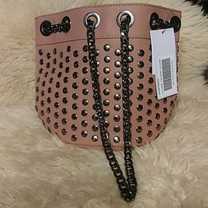 5/$25 Pink bag with chain link drawstring NWT